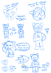 night in the woods sketches by netflixandsapphire
