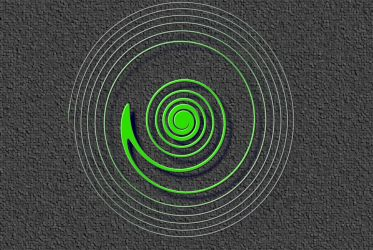 spiral green thing by foo