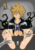 sora tickled by alan-underfoot