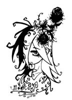 Gothic Flower Girl by TheOldEnglishB