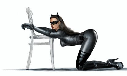 Catwoman from the Dark Knight - in Trouble by Ghosthornet