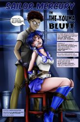 Sailor Mercury in 'The Youma Bluff' - Cover by sleepy-comics