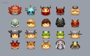 HTTYD Tsum Tsum Wallpaper by TsaoShin