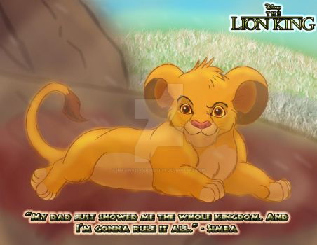 The Lion King - Little Simba by imaginativegenius099