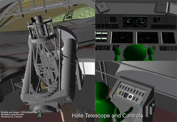 Hale Telescope and Controls by CelestiaGuru