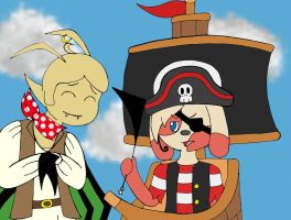 Pirate Event: Missing a leg by YingYang-girl