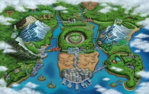 Unova Region Full Map by JcFerggy