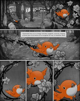 The Bird and the Beard Pg. 1 by uglyographer