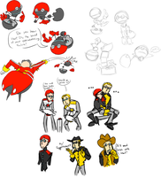so many henchbot doodles by Tesla-Coils