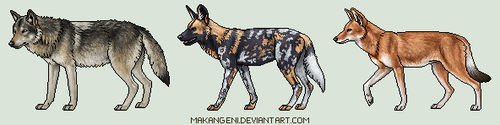 Pixel canines by makangeni