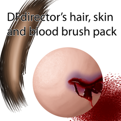 Free Hair, Skin and Blood Brushes Ver 1 (CS5+) by DFdirector