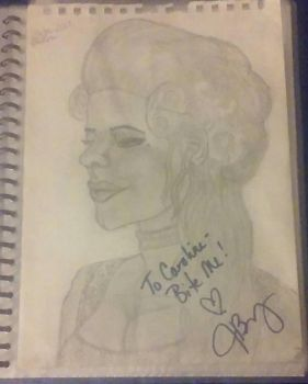 My Julie Benz as Darla Drawing by carrie-lou