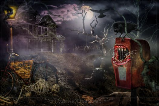 Creepy Mailbox by GrafXthings