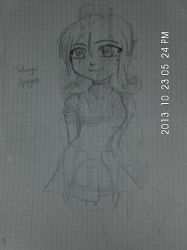 Talwyn Apogee without Hairband (another Sketch) by AmandatheLombax
