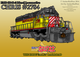 Chris #2784 Locomotive Poster by AnimeRailFan