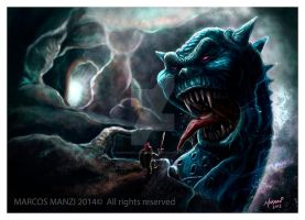 Blue Monster by Marmanillustrator