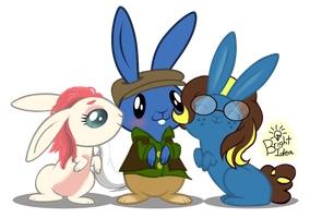 Three Bunny Buddies by A-Bright-Idea