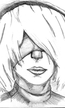 2B (Sketch) by AWESOMEKILLING