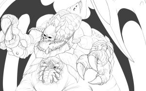 Deathrex Lineart by Hirooyuuki