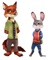 Zootopia - Judy and Nick by Ratlovera