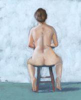 seated nude by classina