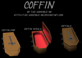[MMD Accessory] Coffin + DL by The-Horrible-Mu