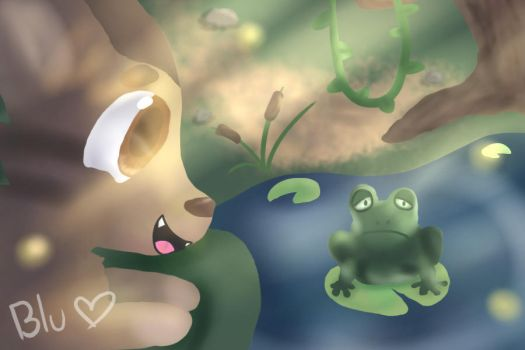 He Really Likes Frogs by CelestialBlu