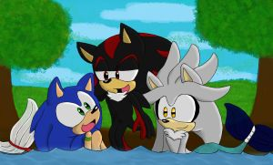 :Collab/Gift: Sonadilver- A Nice Day for a Swim! by Biagotmilkandjelly