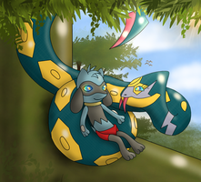 The Pokemon Book, Relaaaax little Lucario-cub! by Kinipharian
