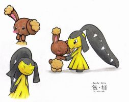Buneary and Mawile...
