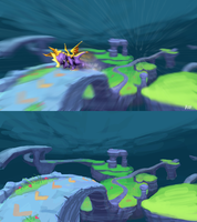 Stormy Mesa - Spyro Fan Level Concept by RubberRabbit2