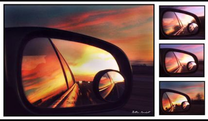 Sunset in Mirrors. by brittini