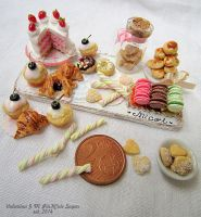 Miniature food 1/12 scale : Micol's Sweet by Valentina-PinkCute