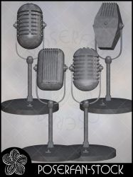 Vintage Microphones by poserfan-stock