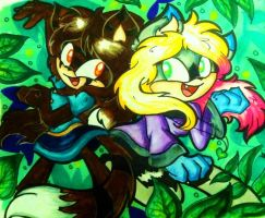 C: Dance in the Leaves by Blossom-fur7