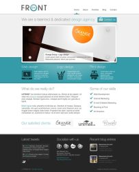 inFRONT Web Layout by Neochron