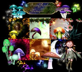 Fairy Garden Backgrounds and Tubes by FairyRealm30