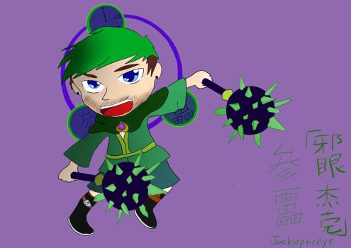 Jacksepticeye,the thunder god by MolerZhaoMinHui98