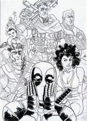 DEADPOOL AND XFORCE by jdavidlee1979