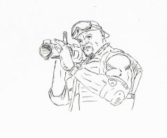 Expendables 2: Terry Crews sketch by StevenWilcox