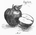 Inktober 2017 #2 .:Apples:. by Felis-Licht