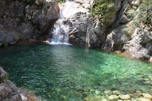 Waterfall of Bavella River in Corsica Island by A1Z2E3R
