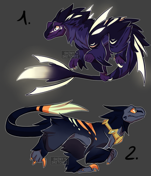 Raptor Adoptables [CLOSED] by ShinySketches