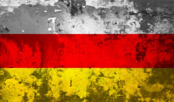 Flag Of South Ossetia (Grunge) by flagArtist