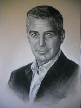 George Clooney portrait by TheShock