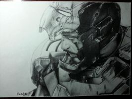 Tony Stark drawing by DeadArt1