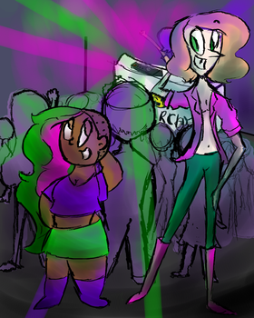 Gumble and Roxy's Night Out by MaybeCrazy010