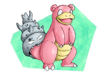 Pokecember #2 : Slowbro by Shokaya