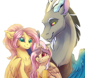 Fluttershy's family by KeryDarling