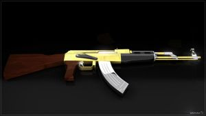 AK47 gold and carbone by iskander71